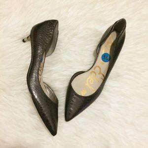 [Sam Edelman] 'Linda' Leather d'Orsay Kitten Heel
